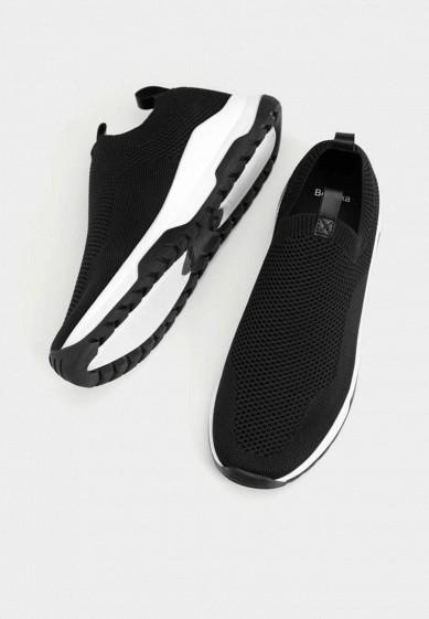 Кроссовки, Bershka, цвет: черный. Артикул: IX001XW00AHU. Обувь / Кроссовки и кеды / Кроссовки