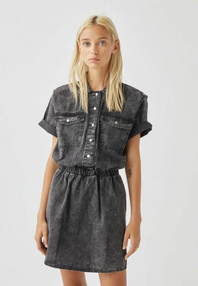 Платье джинсовое Pull&Bear за 2 499 ₽. в интернет-магазине Lamoda.ru