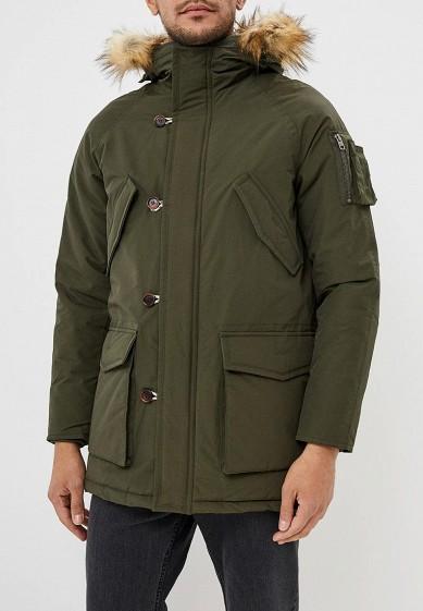 Куртка утепленная, Jack & Jones, цвет: хаки. Артикул: JA391EMBZMC7. Одежда / Верхняя одежда / Пуховики и зимние куртки