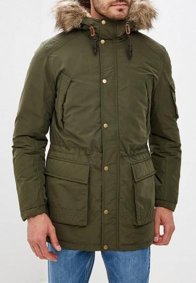 Куртка утепленная, Jack & Jones, цвет: хаки. Артикул: JA391EMBZMJ5. Одежда / Верхняя одежда / Пуховики и зимние куртки