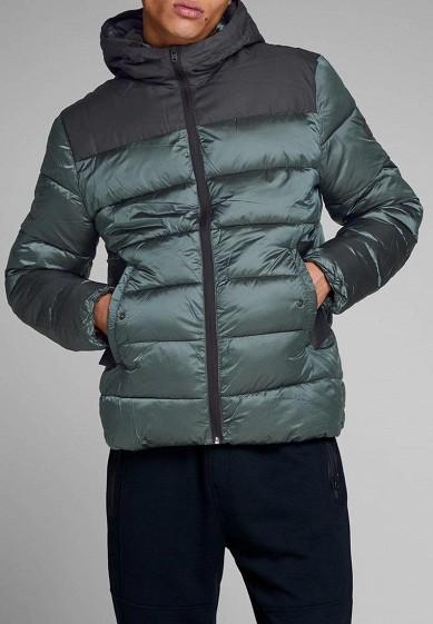 Куртка утепленная, Jack & Jones, цвет: зеленый. Артикул: JA391EMBZMV7. Одежда / Верхняя одежда / Пуховики и зимние куртки