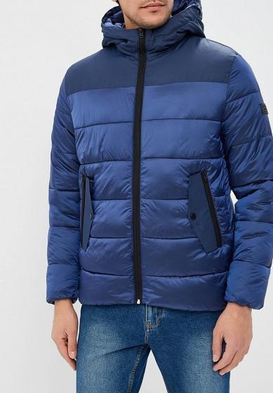 Куртка утепленная, Jack & Jones, цвет: синий. Артикул: JA391EMBZMV8. Одежда / Верхняя одежда / Пуховики и зимние куртки