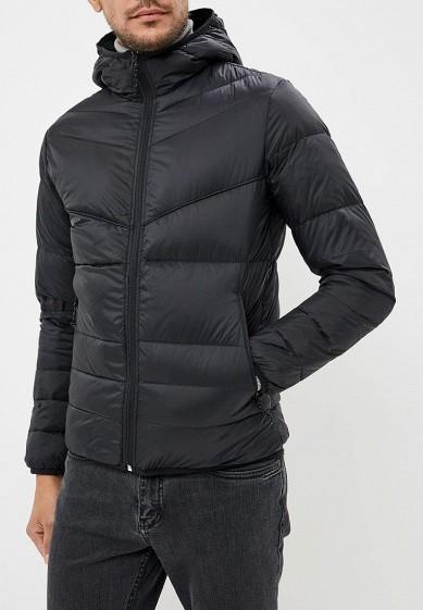 Пуховик, Jack & Jones, цвет: черный. Артикул: JA391EMBZRD6. Одежда / Верхняя одежда / Пуховики и зимние куртки