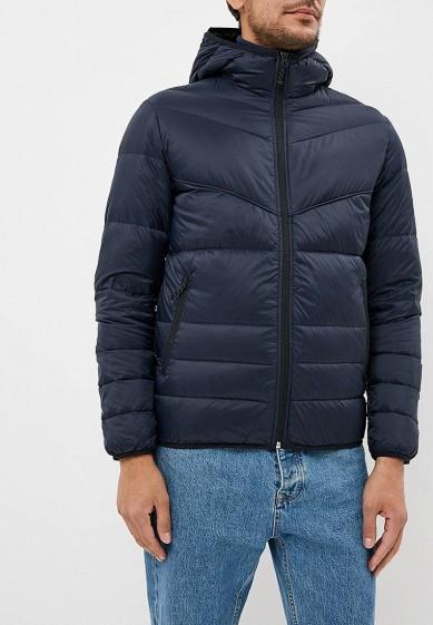 Пуховик, Jack & Jones, цвет: синий. Артикул: JA391EMBZRD9. Одежда / Верхняя одежда / Пуховики и зимние куртки