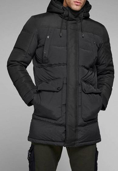 Куртка утепленная, Jack & Jones, цвет: черный. Артикул: JA391EMBZRN4. Одежда / Верхняя одежда / Пуховики и зимние куртки