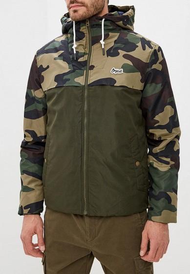 Куртка утепленная, Jack & Jones, цвет: хаки. Артикул: JA391EMCMQW6. Одежда / Верхняя одежда / Пуховики и зимние куртки