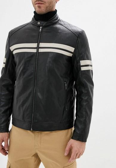 Куртка кожаная, J. Hart & Bros, цвет: черный. Артикул: JH001EMGKSK6. Одежда / Верхняя одежда / Кожаные куртки