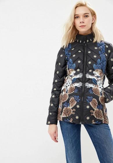 Куртка утепленная, Just Cavalli, цвет: синий, черный. Артикул: JU662EWBTLE1. Premium / Одежда / Верхняя одежда