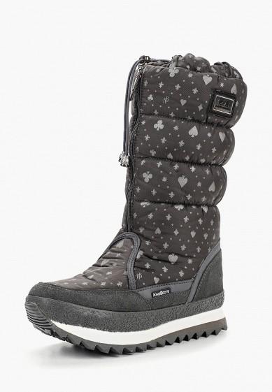 Дутики, King Boots, цвет: серый. Артикул: KI008AWCVOT2. Обувь