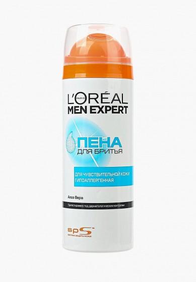 L'Oreal Paris Пена для бритья Men Expert для чувствительной кожи, гипоаллергенная, 200 мл