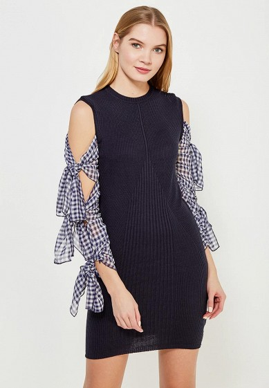 Платье LOST INK GINGHAM TIE SLEEVE DRESS