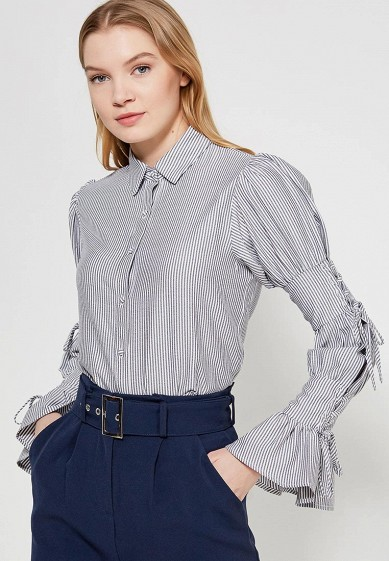 Блуза LOST INK TIE DETAIL STRIPED SHIRT