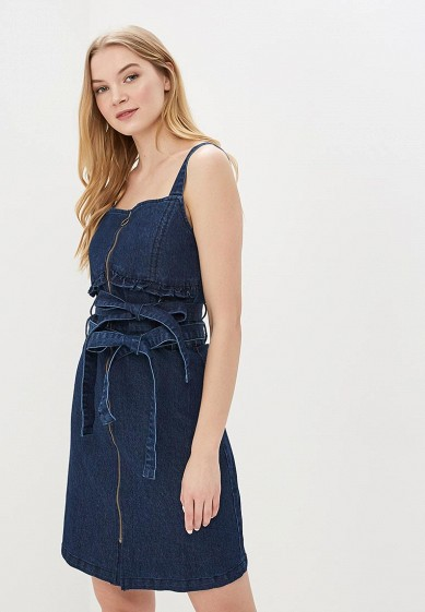 Платье джинсовое LOST INK DENIM SHORT SLEEVE FIT AND FLARE DRESS