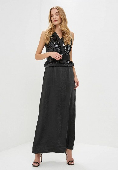 Платье LOST INK LARGE SEQUIN BELTED MAXI DRESS