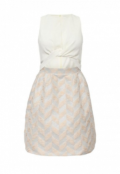 Платье LOST INK ALICE JACQUARD SKIRT TWIST DETAIL DRESS
