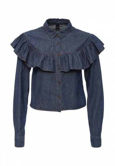 Блуза LOST INK DENIM SHIRT WITH FRILL YOKE