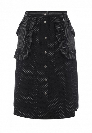 Юбка LOST INK FRILL SPOT MIDI SKIRT