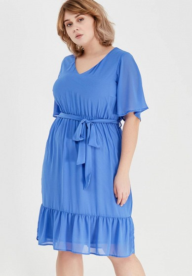 Платье LOST INK PLUS FRILL HEM DRESS WITH KIMONO SLEEVE