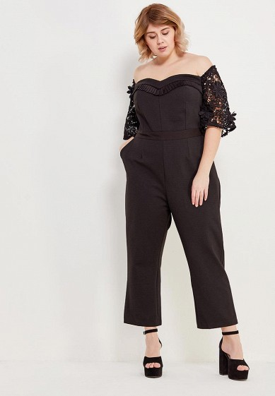 Комбинезон LOST INK PLUS PREMIUM JUMPSUIT WITH LACE SLEEVES