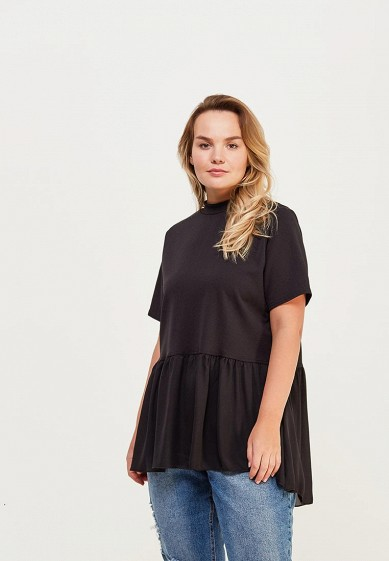 Блуза LOST INK PLUS TOP WITH CHIFFON HEM AND TIE