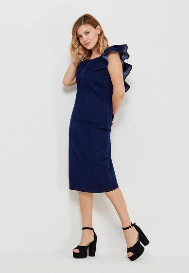 f1f362262ae Платье джинсовое LOST INK PLUS DENIM PENCIL DRESS WITH FRILL BACK купить за  2 300 руб LO035EWAQDU3 в интернет-магазине Lamoda.ru