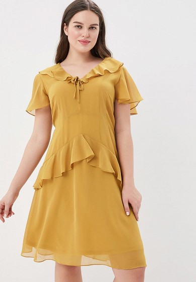 Платье LOST INK PLUS SKATER DRESS WITH FRILLS