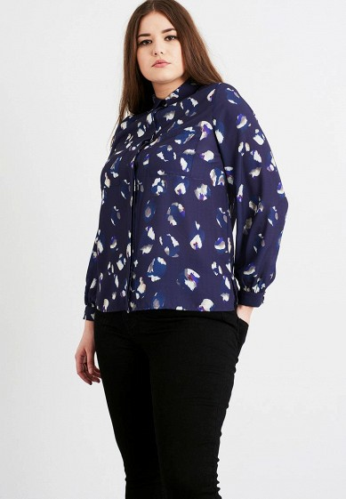 Блуза LOST INK PLUS SHIRT IN ABSTRACT ANIMAL PRINT