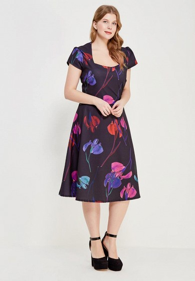 Платье LOST INK PLUS SKATER DRESS IN RAINBOW ORCHID PRINT