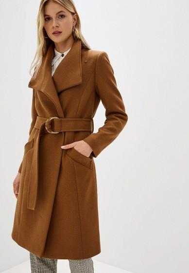 Пальто, Mango, цвет: коричневый. Артикул: MA002EWGDDK3. Одежда / Верхняя одежда / Пальто