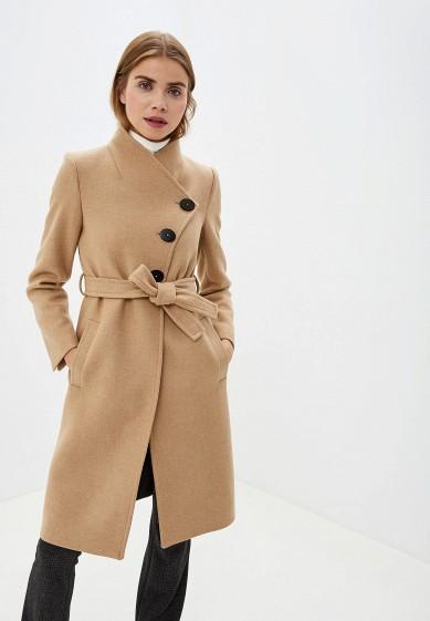 Пальто, Mango, цвет: бежевый. Артикул: MA002EWGHSZ9. Одежда / Верхняя одежда / Пальто