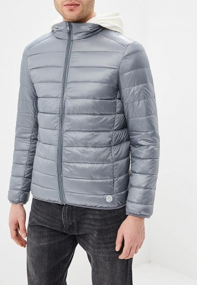 Пуховик, MeZaGuz, цвет: серый. Артикул: ME004EMARGI2. Одежда / Верхняя одежда / Пуховики и зимние куртки
