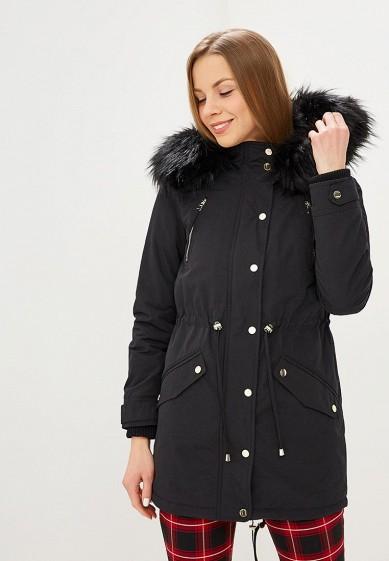 Парка, Miss Selfridge, цвет: черный. Артикул: MI035EWDPRW9. Одежда / Верхняя одежда / Парки