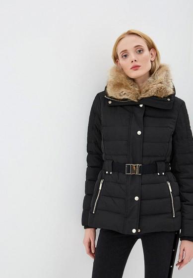 Куртка утепленная, Michael Michael Kors, цвет: черный. Артикул: MI048EWCUFA5. Premium / Одежда / Верхняя одежда