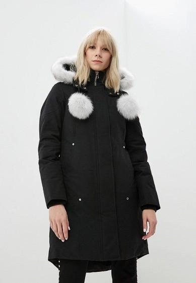 Пуховик, Moose Knuckles, цвет: черный. Артикул: MO041EWCSNX0. Premium / Одежда / Верхняя одежда