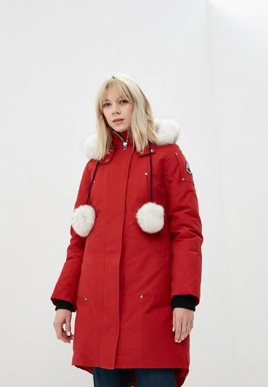 Пуховик, Moose Knuckles, цвет: красный. Артикул: MO041EWCSNX1. Premium / Одежда / Верхняя одежда