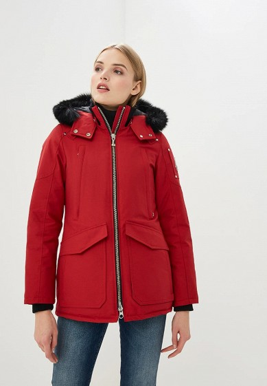 Пуховик, Moose Knuckles, цвет: красный. Артикул: MO041EWCSNX6. Premium / Одежда / Верхняя одежда