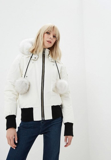 Пуховик, Moose Knuckles, цвет: белый. Артикул: MO041EWCSNX7. Premium / Одежда / Верхняя одежда