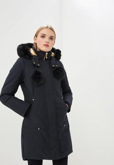 Пуховик, Moose Knuckles, цвет: синий. Артикул: MO041EWCSNY2. Premium / Одежда / Верхняя одежда