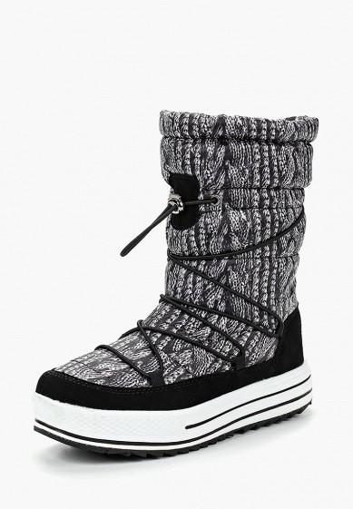 Дутики, Mon Ami, цвет: серый. Артикул: MO151AWBZAI4. Обувь