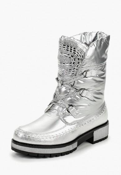 Дутики, Mon Ami, цвет: серебряный. Артикул: MO151AWDKBV5. Обувь