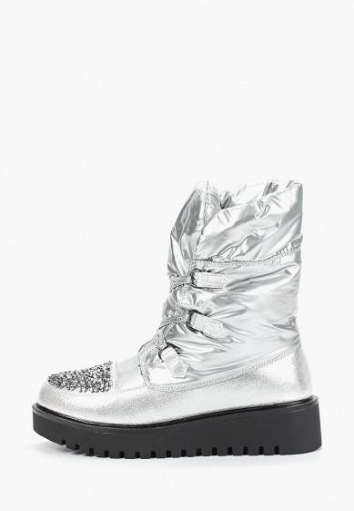 Дутики, Mon Ami, цвет: серебряный. Артикул: MO151AWDXYA2. Обувь
