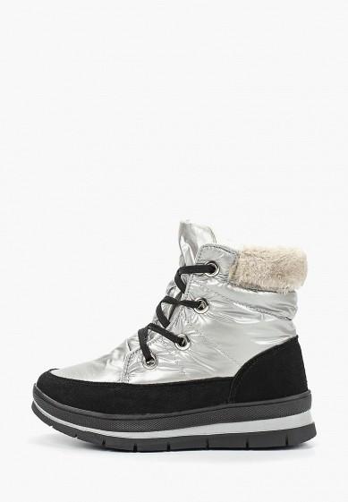 Дутики, Mon Ami, цвет: серебряный. Артикул: MO151AWDXYB4. Обувь