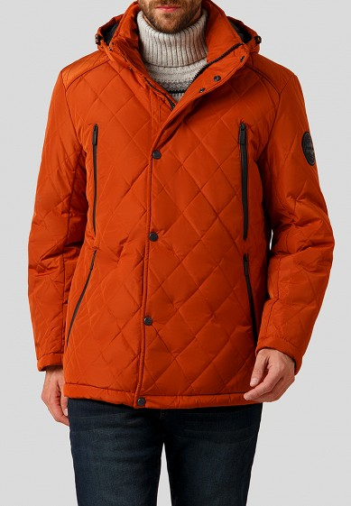 Куртка утепленная, Finn Flare, цвет: оранжевый. Артикул: MP002XM23YXV. Одежда / Верхняя одежда / Пуховики и зимние куртки