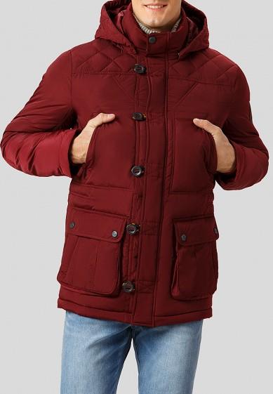 Куртка утепленная, Finn Flare, цвет: бордовый. Артикул: MP002XM2407L. Одежда / Верхняя одежда / Пуховики и зимние куртки