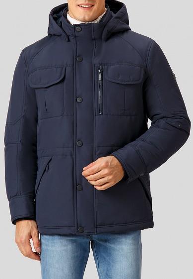Куртка утепленная, Finn Flare, цвет: синий. Артикул: MP002XM2407U. Одежда / Верхняя одежда / Пуховики и зимние куртки