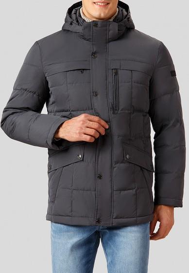 Куртка утепленная, Finn Flare, цвет: серый. Артикул: MP002XM24088. Одежда / Верхняя одежда / Пуховики и зимние куртки