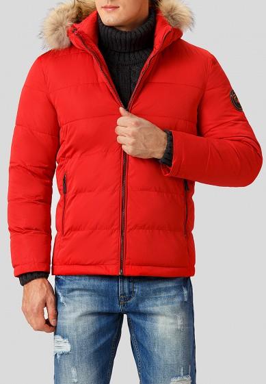 Куртка утепленная, Finn Flare, цвет: красный. Артикул: MP002XM2408V. Одежда / Верхняя одежда / Пуховики и зимние куртки