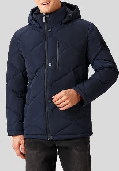 Куртка утепленная, Finn Flare, цвет: синий. Артикул: MP002XM24168. Одежда / Верхняя одежда / Пуховики и зимние куртки