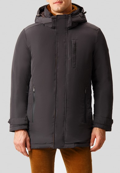 Куртка утепленная, Finn Flare, цвет: серый. Артикул: MP002XM2416T. Одежда / Верхняя одежда / Пуховики и зимние куртки