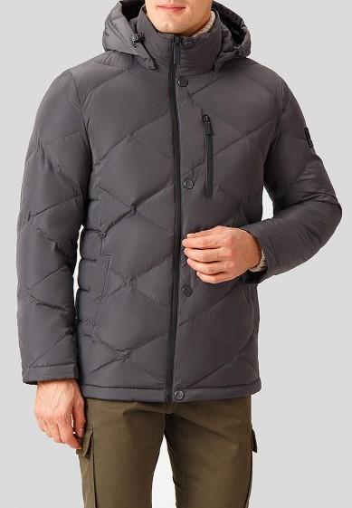 Куртка утепленная, Finn Flare, цвет: серый. Артикул: MP002XM2417F. Одежда / Верхняя одежда / Пуховики и зимние куртки